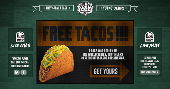 Free Tacos Taco Bell World Series Consider The Consumer